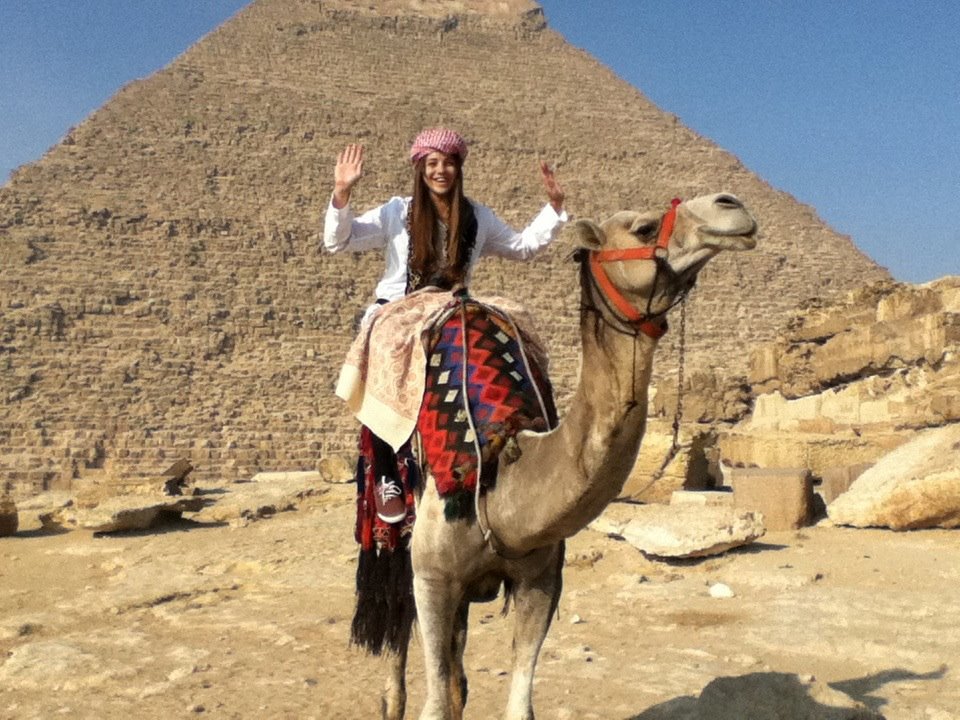 Katy traveling in Northern Africa