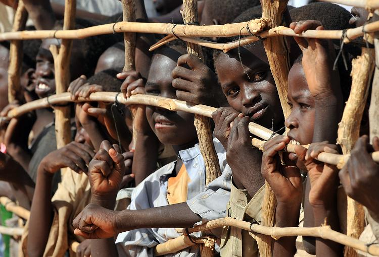 Sudanese children in a Djabal refugee camp in southern Chad